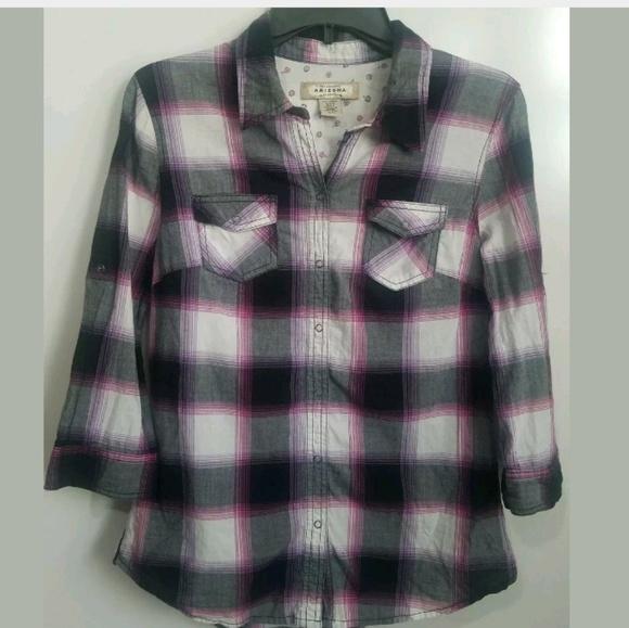Arizona Jean Company Other - Arizona Girl's Plaid Snap Front Shirt Large